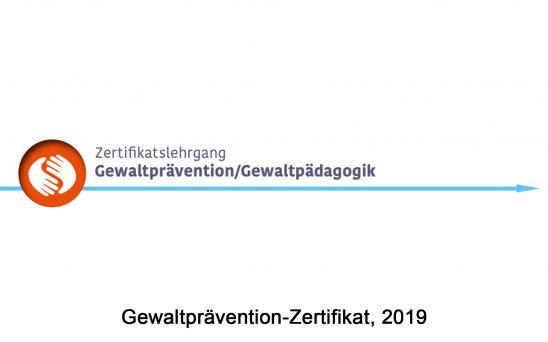 Gewaltprävention Zertifikat